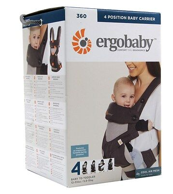 Ergobaby Four Position 360 Cool Air Mesh Baby Carrier Carbon Grey