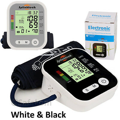 Digital Upper Arm Blood Pressure Monitor Meter Intellisense 180 Memory Automatic