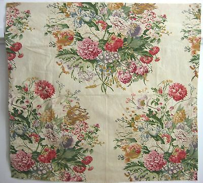 Beautiful 1930's French Floral Cotton Print Fabric (9424)