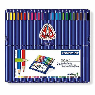Staedtler Ergosoft Triangular Colouring Pencils - Assorted Pack of 24