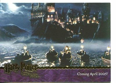 Harry Potter Sorcerers Stone Gold Stamped Promo Card 02