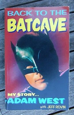 SIGNED PB Back to the Batcave Autobiography by Adam West with Jeff Rovin, Batman