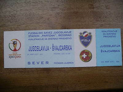 YUGOSLAVIA  v  Switzerland   2001  World Cup Qualifier.