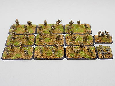 15mm WW2 US INFANTRY PLATOON 11 bases Painted Flames of War Battlefront 40943