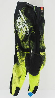 "NEW Fly Racing Fly Lite Hydrogen DH MTB Cycling Pants Size 32"" Waist Hi-Vis/Blk"
