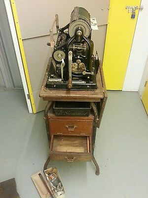 1927 The Gestetner duplicator, printer, with Table No 65, manual and supplies