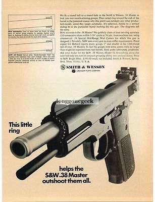 1969 Smith & Wesson S&W .38 Master Pistol Vtg Print Ad
