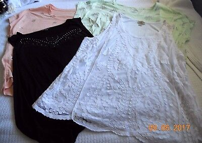 WOMEN'S PLUS SIZE ASSORTED SUMMER SHIRT~ LOT of 4 ~SIZE 2X