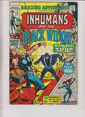 Amazing Adventures vol. 2 #8 VG- inhumans by neal adams - black bolt vs thor