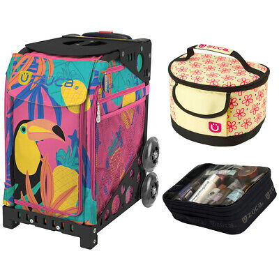 Zuca Sport Toucan Dream Bag & Black Frame, Gift Lunchbox + Pouch (Ltd. Ed.)