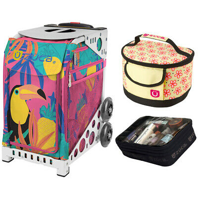 Zuca Sport Toucan Dream Bag & White Frame, Gift Lunchbox + Pouch (Ltd. Ed.)