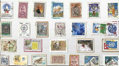 A Lovely Selection Of Kiloware Stamps From Nepal