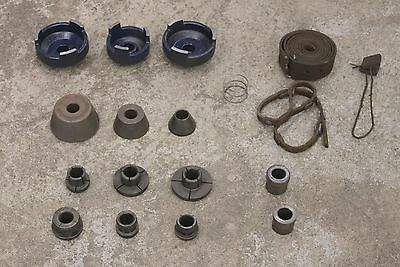 "Used Adapter Kit Automotive Brake Lathe 1"" Arbor Ammco FMC AccuTurn Cone Set"
