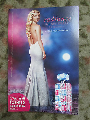 BRITNEY SPEARS 'RADIANCE' SCENTED TATTOO'S x2 FEMME FATALE TOUR 2011
