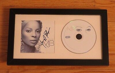 Mary J Blige Signed CD Booklet The Breakthrough Framed Autograph R&B RARE