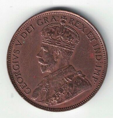 Newfoundland 1919 C Large Cent King George V Canadian Coin Nice Details