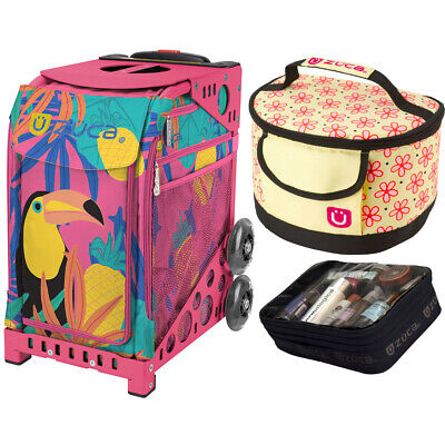 Zuca Sport Toucan Dream Bag & Pink Frame, Gift Lunchbox + Pouch (Ltd. Ed.)