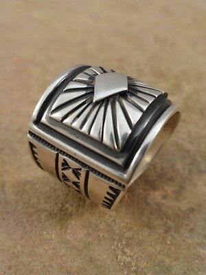 Albert Jake Navajo Sterling Silver Cigar Band Ring  sz 7 1/2