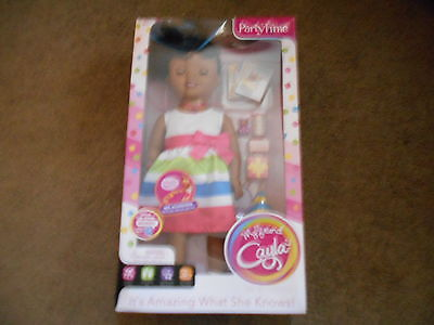 """NIP My Friend Cayla Party Time African American 18"""" Interactive Doll w Bluetooth"""