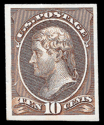 WCstamps: U.S. Scott #209P4 / $25 - 10c Brown Proof, Unused, VF
