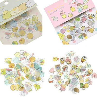 80 X Japanese Sumikko Gurashi Stickers Flakes Bag Sack Anlimal DIY Scrapbooking