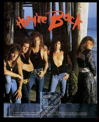 1986 Bon Jovi photo New Jersey album release vintage print ad