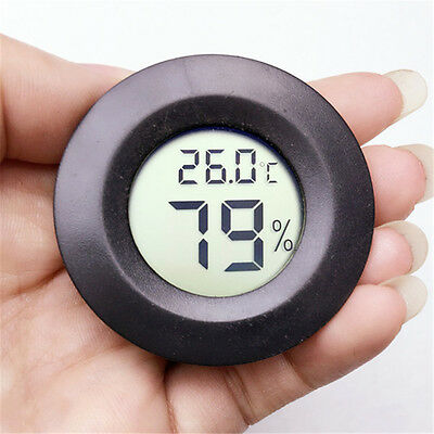 Digital LCD Indoor Outdoor Thermometer Humidity Outdoor Home Office Round 1PC