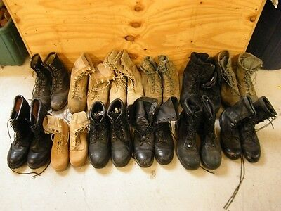 Wholesale Lot 12 Mens Worn Leather Military-Hiking Hunting Lace-Up Craft Boots