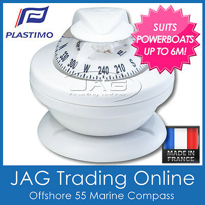 PLASTIMO OFFSHORE 55 WHITE COMPASS BRACKET MOUNT - Boat/Marine/Powerboats to 6M