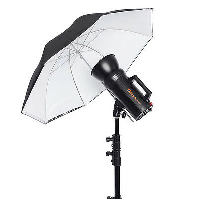 "Neewer 30"" White Umbrella with Removable Black Cover & Reflective Silver Backing"