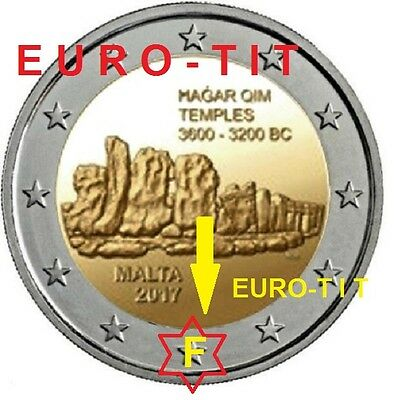 2 €  MALTE  COMMEMO   RARE /  1  x  PIECE  2017   30 000  ex  / RARE  disponible