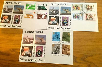 Job Lot Of Army British Forces First Day Covers Limited Edition
