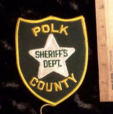 Vintage Polk County Sheriff's Iron/Sew on Patch
