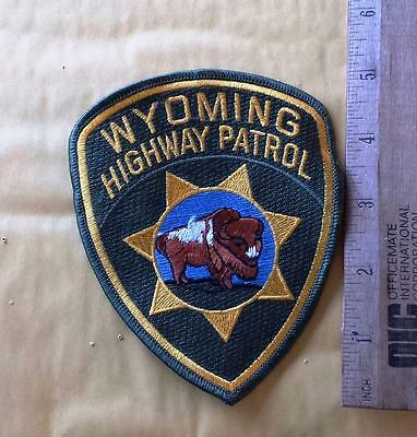 Vintage Wyoming Highway Patrol Sew on Twill Patch