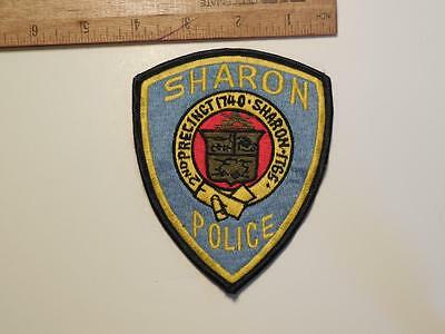 1990's Era Sharon Police Sew on Cheese Cloth Patch