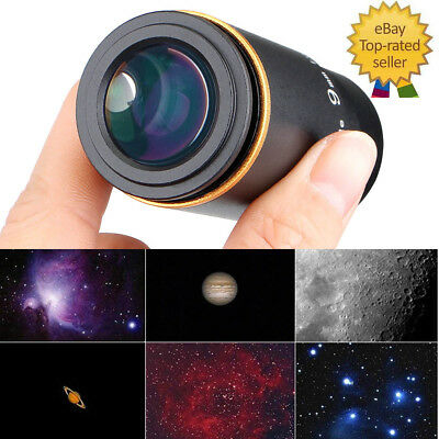 "Newest 1.25"" Ultra Wide Angle Eyepiece Lens 9MM 66-Deg Multicoated for Telescope"