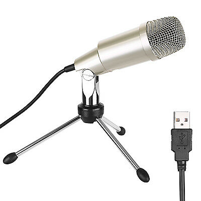 Neewer Desktop USB Microphone w/ Metal Stand, Plug-and-Play for Sound Recording