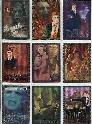 Harry Potter Order Of The Phoenix Complete Prismatic Foil Chase Card Set R1-9