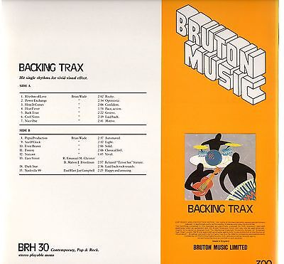 Brian WADE Backing Trax Bruton BRH30 Vinyl LP Library Production Music