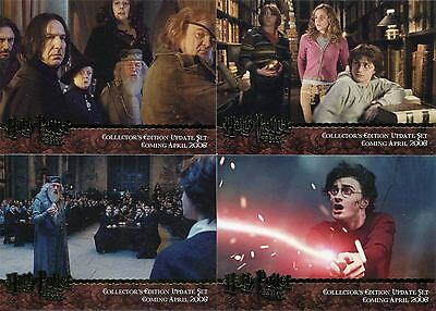 Harry Potter Goblet Of Fire Update 4 Card Gold Stamped Promo Set