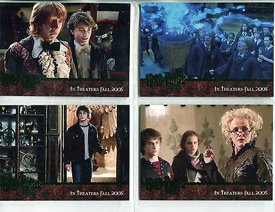 Harry Potter Goblet Of Fire 4 Card Green Foil Stamped Promo Set - NY Toy Fair