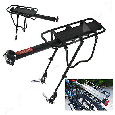 Bicycle Rear Rack Seat Post Mount Quick Release Pannier Luggage Bike Reflector
