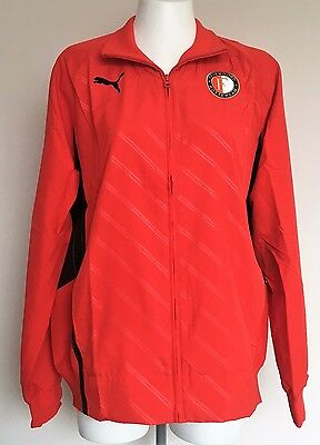 Feyenoord Red Walk Out Jacket By Puma Size Adults Large Brand New With Tags