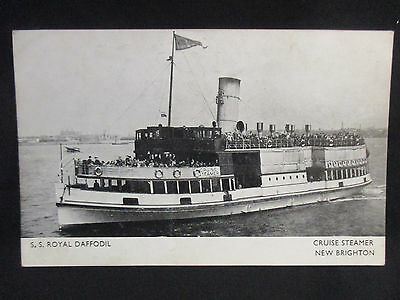 Vintage Photographic Postcard c.1930s S.S. Royal Daffodil Cruise Steamer UnUsed