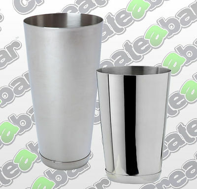 Stainless Steel Boston Cocktail Shakers & Cans - 16oz, 18oz, 28oz - Capped Bases
