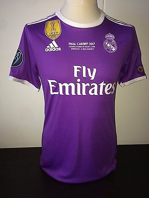 Benzema Real Madrid CL Final 2017 match worn issued shirt Cardiff France maillot