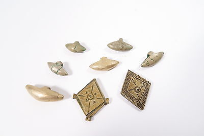 8 alte Metall Amulette A Anhänger Fulani Old Metal Charms Afrozip