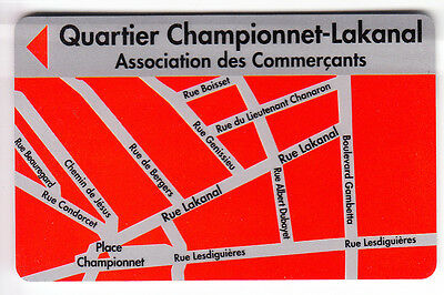 Piaf Parking Carte / Card .. 20Mn Grenoble 38 Championnet Lakanal Magnetique