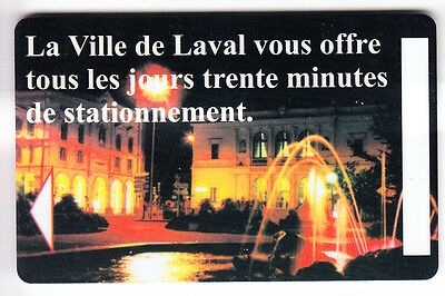 Piaf Parking Carte / Card .. 15€ Laval 53 Centre Ville V° 10Ln Magnetique