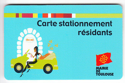 Piaf Parking Carte / Card .. 30€ Toulouse 31 Residants V° 7Ln Magnetique